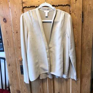 Chico's faux suede & knit jacket! EUC! Chicos sz 2